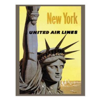 ニューヨークのヴィンテージ旅行郵便はがき ポストカード