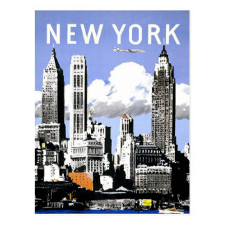 ニューヨークのヴィンテージ旅行 ポストカード