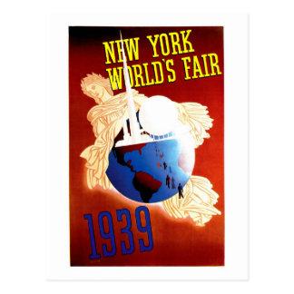 ニューヨークの万国博覧会のヴィンテージ旅行広告 ポストカード