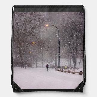 ニューヨークの吹雪のバックパック ナップサック
