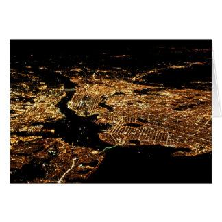 ニューヨークの地下鉄空気夜挨拶状 カード