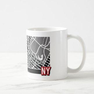 ニューヨークの地図のマグ コーヒーマグカップ