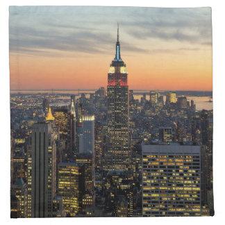 ニューヨークの夜明けのスカイライン ナプキンクロス