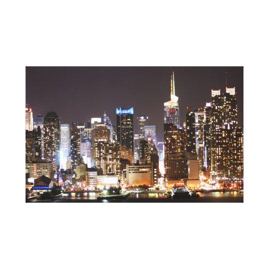 ニューヨークの夜景写真 キャンバスプリント