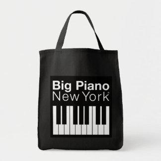 ニューヨークの大きいピアノアイコン トートバッグ