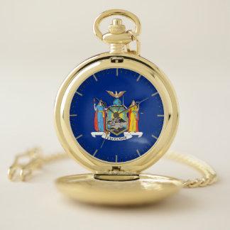 ニューヨークの旗が付いている愛国心が強い壊中時計 ポケットウォッチ
