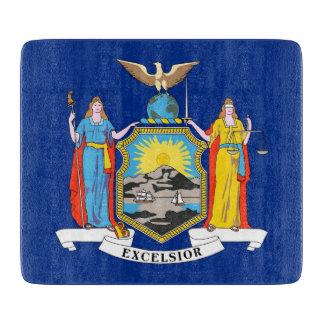 ニューヨークの旗を持つ小さいガラスまな板 カッティングボード