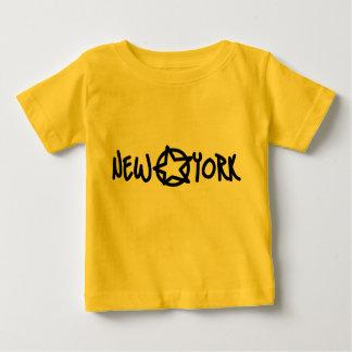 ニューヨークの星のTシャツ ベビーTシャツ