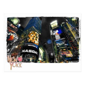 ニューヨークの時間正方形 ポストカード