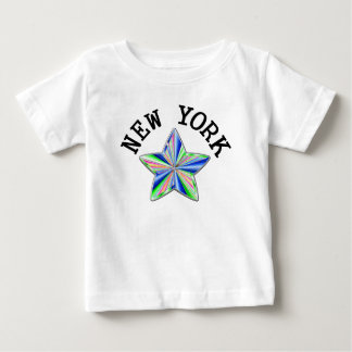 ニューヨークの有名な星 ベビーTシャツ