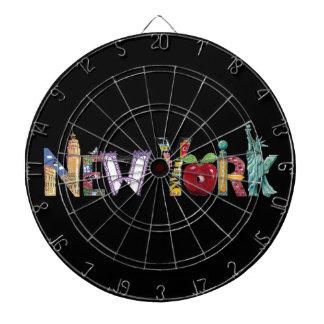 ニューヨークの柱時計 ダーツボード