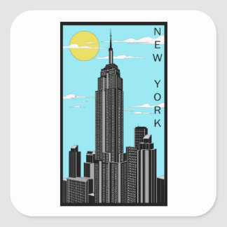 ニューヨークの正方形のステッカー スクエアシール