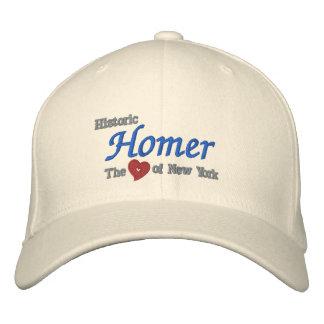 ニューヨークの歴史的なホーマーハートは帽子を刺繍しました 刺繍入りキャップ