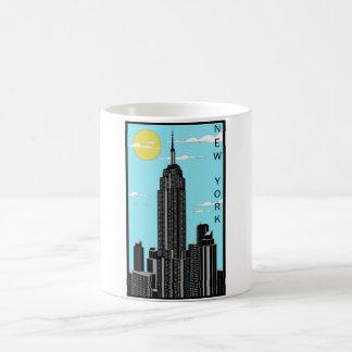 ニューヨークの白11のozのクラシックで白いマグ コーヒーマグカップ