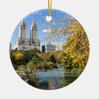 ニューヨークの秋、感謝祭 セラミックオーナメント