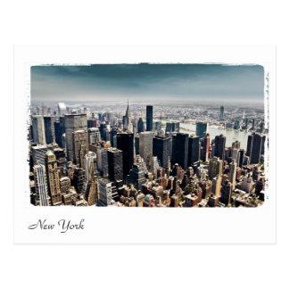 ニューヨークの空中写真 ポストカード