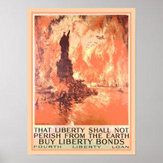 ニューヨークの自由の女神によっては結束が死にません ポスター