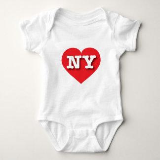 ニューヨークの赤いハート-大きい愛 ベビーボディスーツ