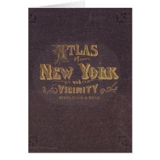 ニューヨークの近辺の地図書 カード