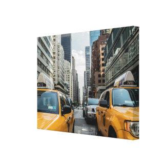 ニューヨークの通りのキャンバスのプリントのNYCの黄色いタクシー キャンバスプリント
