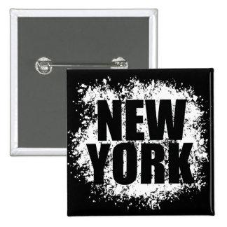 ニューヨークの都市落書き 5.1CM 正方形バッジ