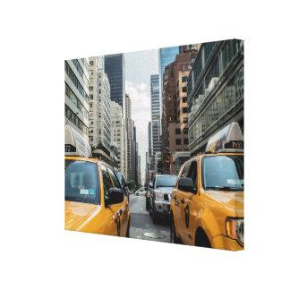 ニューヨークの黄色いタクシー キャンバスプリント