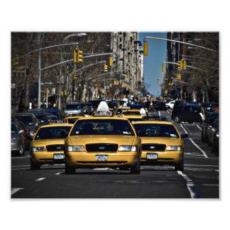 ニューヨークの黄色いタクシー フォトプリント