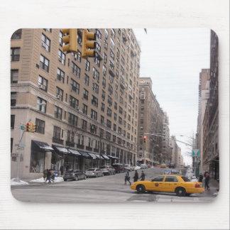 ニューヨークの黄色いタクシー マウスパッド