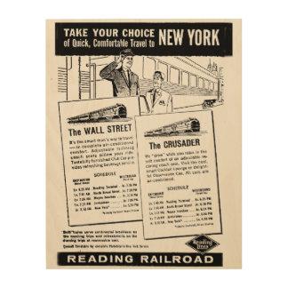 ニューヨークへの列車のあなたの選択 ウッドウォールアート
