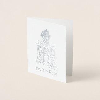 ニューヨークイースターのバスケットNYCワシントン州の正方形のアーチ 箔カード