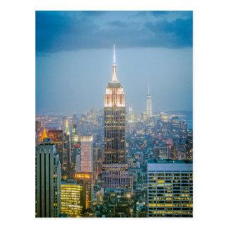 ニューヨークシティのエンパイア・ステート・ビルディング ポストカード