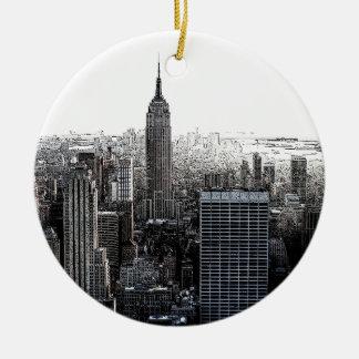 ニューヨークシティのクリスマスのオーナメント セラミックオーナメント
