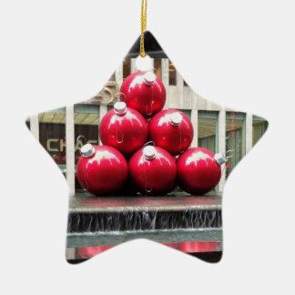 ニューヨークシティのクリスマスの球のオーナメント セラミックオーナメント