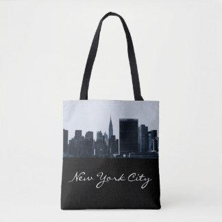ニューヨークシティのシルエットのトートバック トートバッグ