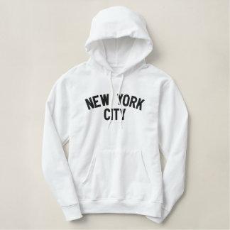ニューヨークシティのスエットシャツ 刺繍入りパーカ