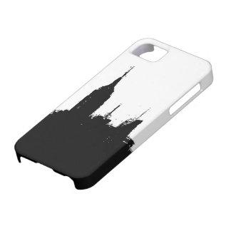 ニューヨークシティのスカイラインのシルエットのiPhone 5/5Sの場合 iPhone SE/5/5s ケース