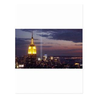 ニューヨークシティのスカイラインの世界貿易センター ポストカード