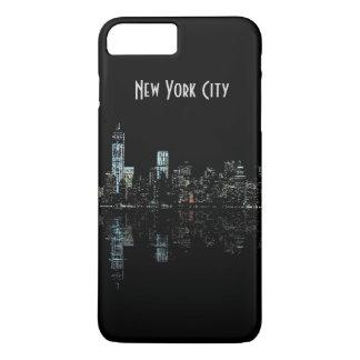 ニューヨークシティのスカイラインの景色の写真 iPhone 8 PLUS/7 PLUSケース