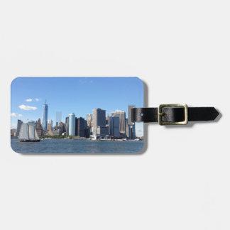 ニューヨークシティのスカイラインの荷物のラベル ラゲッジタグ