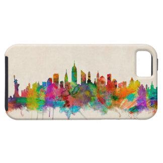 ニューヨークシティのスカイラインの都市景観 iPhone SE/5/5s ケース
