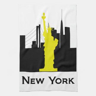 ニューヨークシティのスカイライン キッチンタオル