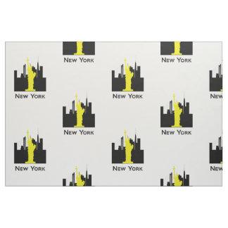 ニューヨークシティのスカイライン ファブリック
