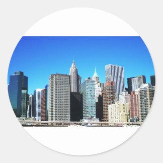 ニューヨークシティのスカイライン ラウンドシール