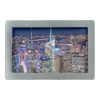 ニューヨークシティのスカイライン 長方形ベルトバックル