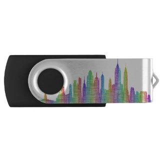 ニューヨークシティのスカイライン USBフラッシュドライブ