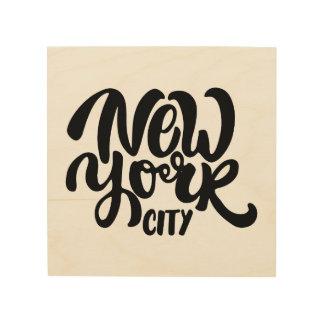 ニューヨークシティのスタイル ウッドウォールアート