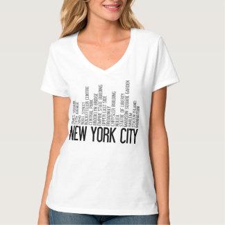 ニューヨークシティのタイポグラフィのTシャツ Tシャツ