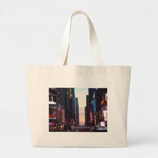 ニューヨークシティのタイムズ・スクエア ラージトートバッグ