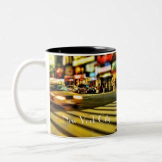 ニューヨークシティのタクシー ツートーンマグカップ