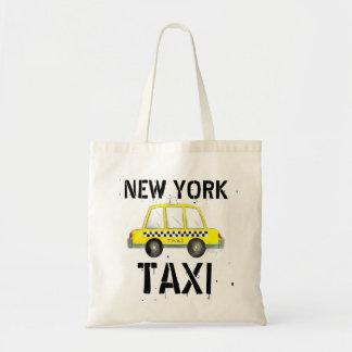 ニューヨークシティのタクシーNYCの黄色いタクシーの戦闘状況表示板 トートバッグ